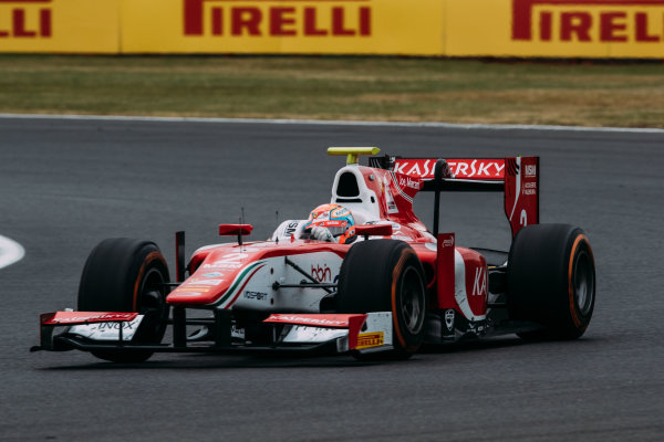 2017 FIA Formula 2 Round 6. Silverstone, Northamptonshire, UK. Sunday 16 July 2017. Antonio Fuoco (ITA, PREMA Racing).  Photo: Malcolm Griffiths/FIA Formula 2. ref: Digital Image MALC7658