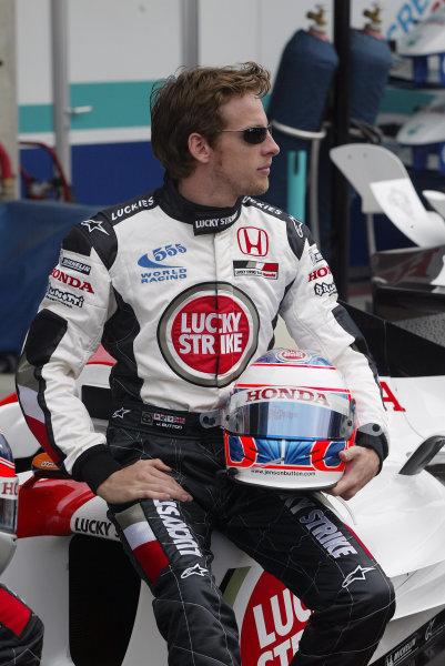 2004 United States Grand Prix - Thursday,Indianapolis, USA. 17th June 2004 Jenson Button, BAR Honda 006, portrait.World Copyright: Steve Etherington/LAT Photographic ref: Digital Image Only