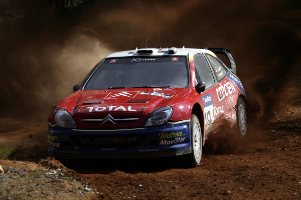2003 FIA World Rally Champs. Round Ten Telstra Rally Australia 4th-7th September 2003.Carlos Sainz, Citroen, Action. World Copyright: McKlein/LAT