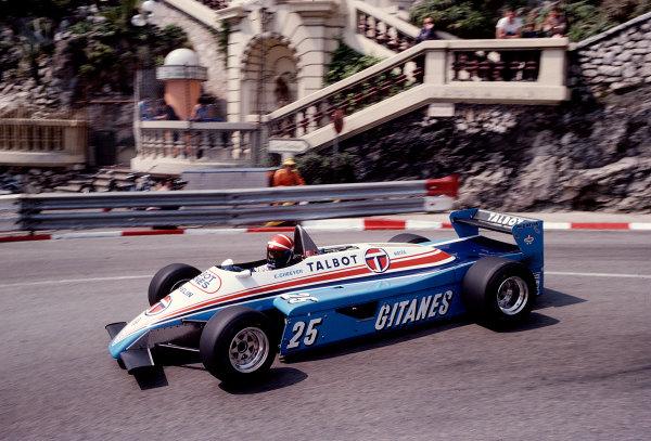 1982 Monaco Grand Prix.Monte Carlo, Monaco.20-23 May 1982.Eddie Cheever (Ligier JS19 Matra).Ref-82 MON 86.World Copyright - LAT Photographic