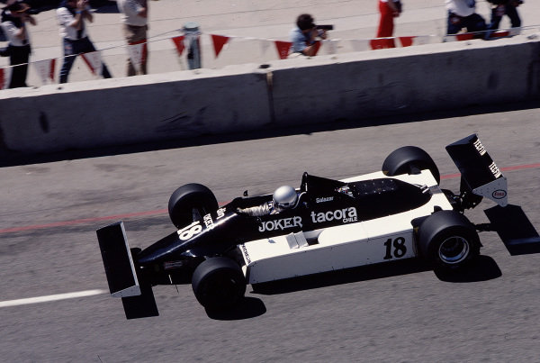 1981 United States Grand Prix West.Long Beach, California, USA.13-15 March 1981.Eliseo Salazar (March 811 Ford).Ref-81 LB 42.World Copyright - LAT Photographic