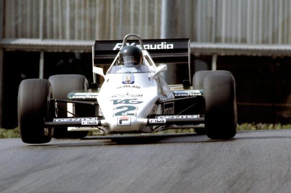 1983 Monaco Grand Prix.Monte Carlo, Monaco. 15 May 1983.Jacques Laffite (Williams FW08C-Ford Cosworth).World Copyright:LAT Photographic