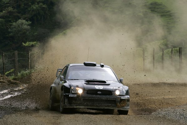 2006 FIA World Rally Champs. Round fifteenNew Zealand Rally.16th-19th November 2006.Valentino Rossi, Subaru, action.World Copyright: McKlein/LAT