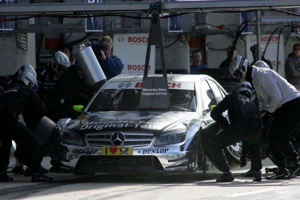 Bernd Schneider (GER) Original-Teile AMG Mercedes C-Klasse (2008).DTM, Rd10, Le Mans Bugatti Circuit, Le Mans, France, 3-5 October 2008.