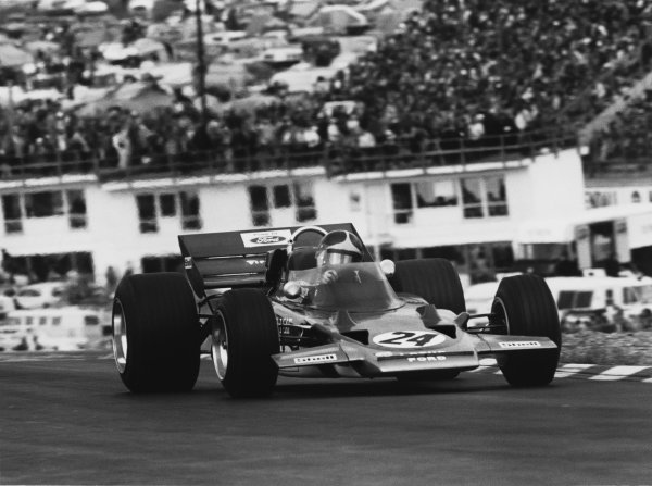 Watkins Glen, New York, USA.2 - 4 October 1970. Emerson Fittipaldi (Lotus 72C Ford) 1st position, action. World Copyright: LAT Photographic. Ref: 3347 - 0A