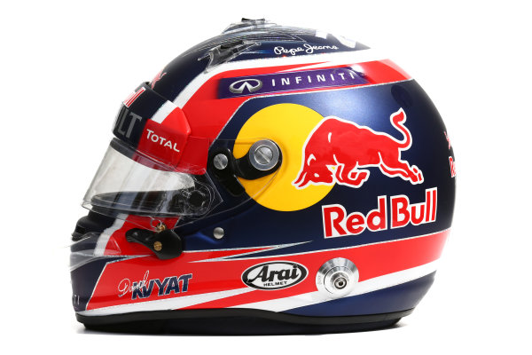 Albert Park, Melbourne, Australia. Helmet of Daniil Kvyat, Red Bull Racing.  Thursday 12 March 2015. World Copyright: LAT Photographic. ref: Digital Image 2015_Helmet_042