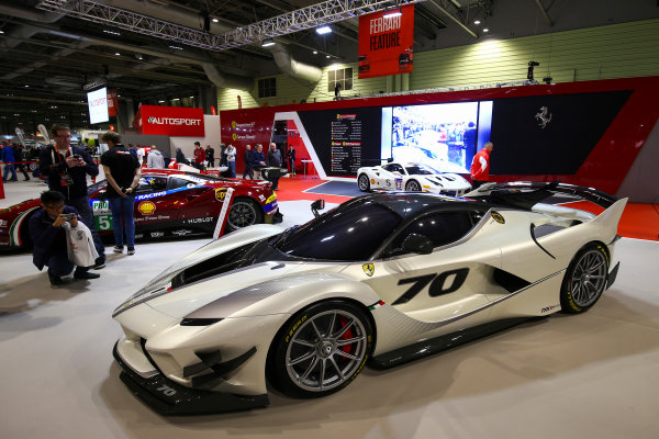 Autosport International Exhibition. National Exhibition Centre, Birmingham, UK. Sunday 14th January 2018. The Ferrari display.World Copyright: Mike Hoyer/JEP/LAT Images Ref: AQ2Y0167