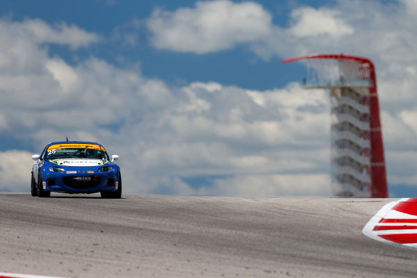 IMSA Continental Tire SportsCar Challenge Advance Auto Parts SportsCar Showdown Circuit of The Americas, Austin, TX USA Thursday 4 May 2017 25, Mazda, Mazda MX-5, ST, Chad McCumbee, Stevan McAleer World Copyright: Jake Galstad LAT Images