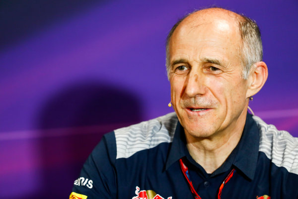 Monte Carlo, Monaco. Thursday 25 May 2017. Franz Tost, Team Principal, Toro Rosso, in the team principals' Press Conference. World Copyright: Sam Bloxham/LAT Images ref: Digital Image _W6I2093