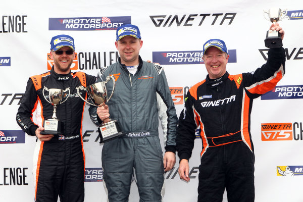 2017 Ginetta GT5 Championship Oulton Park, 15th-17th April, 2017, CampbellSmith, Evans and Greenwood World copyright. JEP/LAT Images