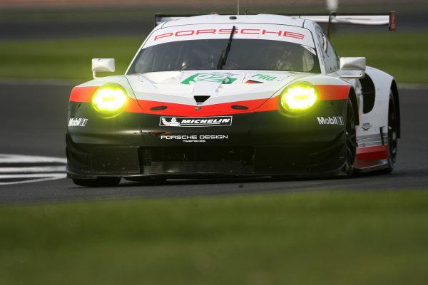 2017 World Endurance Championship, Silverstone, UK. 14th-16th April 2017, Michael Christensen / Kevin Estre Porsche GT Team Porsche 911 RSR World Copyright. JEP/LAT Photographic