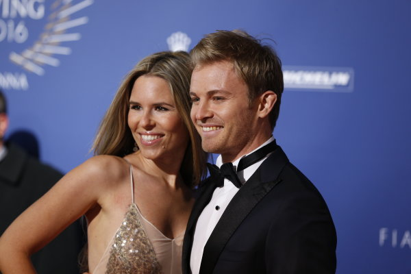 2016 FIA Prize Giving Vienna, Austria Friday 2nd December 2016 Nico Rosberg and wife Vivian. Photo: Copyright Free FOR EDITORIAL USE ONLY. Mandatory Credit: FIA ref: 30556359734_62a5474f86_o