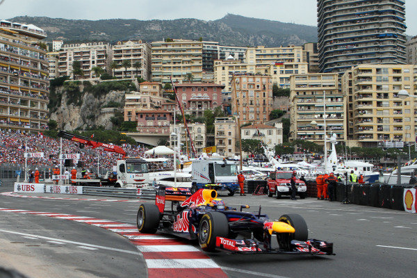 Race winner Mark Webber (AUS) Red Bull Racing RB8. Formula One World Championship, Rd6, Monaco Grand Prix, Race Day, Monte-Carlo, Monaco, Sunday 27 May 2012. BEST IMAGE