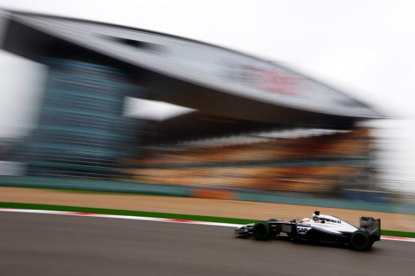 Shanghai International Circuit, Shanghai, China. Saturday 19 April 2014. Jenson Button, McLaren MP4-29 Mercedes. World Copyright: Charles Coates/LAT Photographic. ref: Digital Image _N7T2640