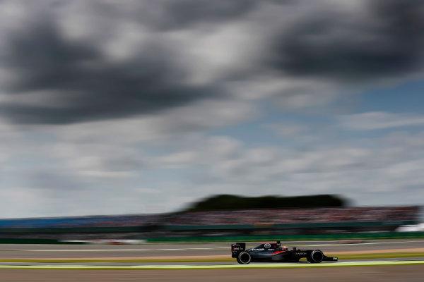 Silverstone, Northamptonshire, UK Friday 08 July 2016. Fernando Alonso, McLaren MP4-31 Honda. World Copyright: Glenn Dunbar/LAT Photographic ref: Digital Image _V2I7050