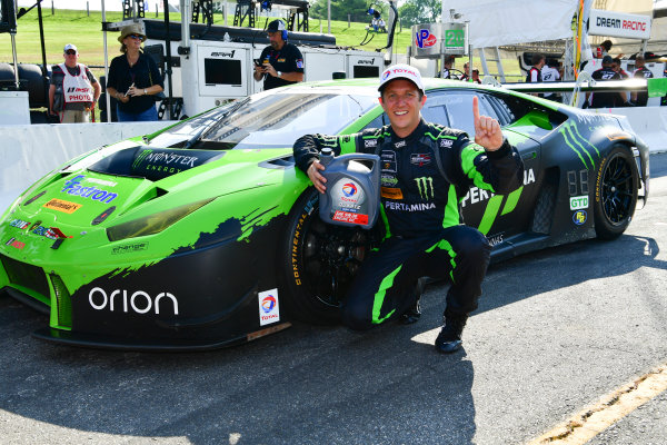 22-23 July, 2016, Lakeville, Connecticut USA 16, Lamborghini, Huracan GT3, GTD, Spencer Pumpelly wins the Total Pole Award for GTD class. ?2016, Richard Dole LAT Photo USA