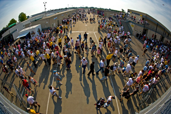 27 May, 2012, Indianapolis, Indiana, USAFans move through the area outside of Gasoline Alley.(c)2012, F. Peirce WilliamsLAT Photo USA