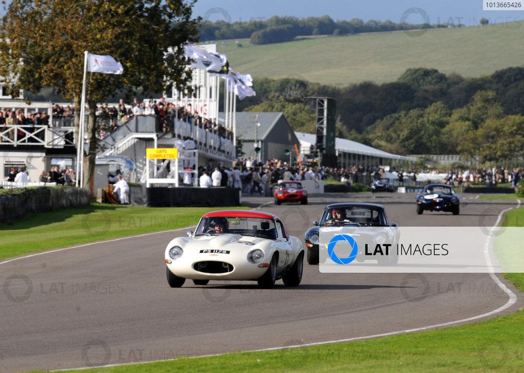 Goodwood Estate, West Sussex, 15th - 18th September 2011 Fordwater Trophy Berger/Newey, Jaguar E Type lightweight, 2nd position, action. World Copyright:Jeff Bloxham/LAT Photographic Ref: Digital Image
