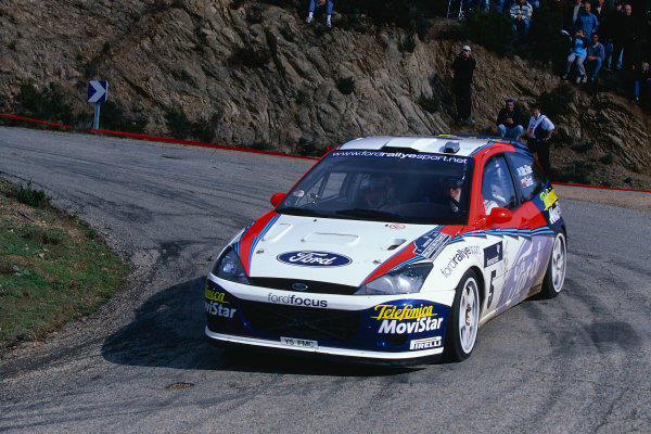2002 World Rally ChampionshipTour De Corse, Corsica. 8th - 10th March 2002.Colin McRae / Nicky Grist, Ford Focus RS WRC 02, retired. World Copyright: McKlein/LAT Photographicref: 35mm Image 02 WRC 20