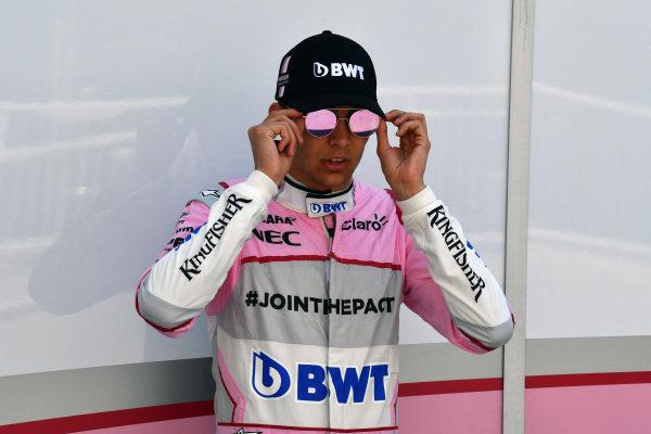 Esteban Ocon (FRA) Force India F1 at Formula One World Championship, Rd8, Azerbaijan Grand Prix, Practice, Baku City Circuit, Baku, Azerbaijan, Friday 23 June 2017. BEST IMAGE