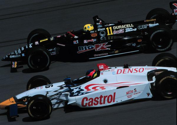 1999 CART US 500, Michigan Speedway, 25/7/99Christian Fittipaldi passes Gualter Salles-1999, Michael L. Levitt, USALAT PHOTOGRAPHIC