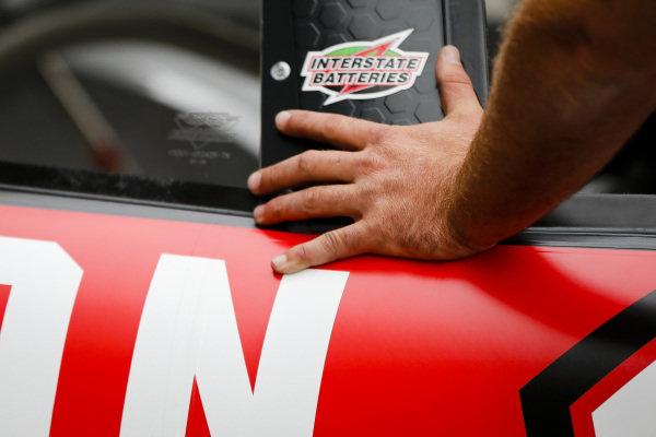 #18: Ryan Preece, Joe Gibbs Racing, Toyota Camry Craftsman crew member