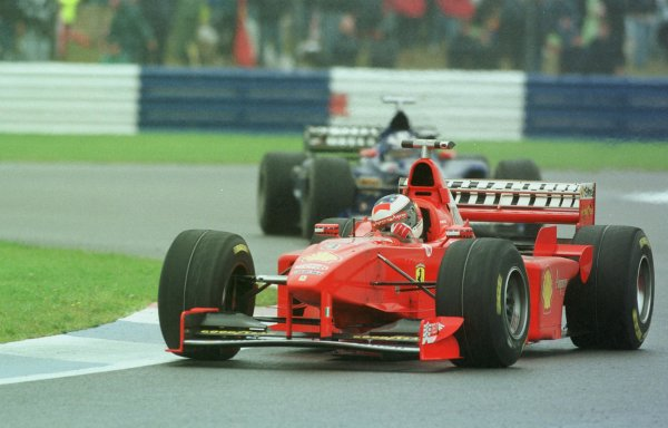 1998 British Grand Prix. Silverstone, England. 10-12 July 1998. Michael Schumacher (Ferrari F300) 1st position. World Copyright - LAT Photographic