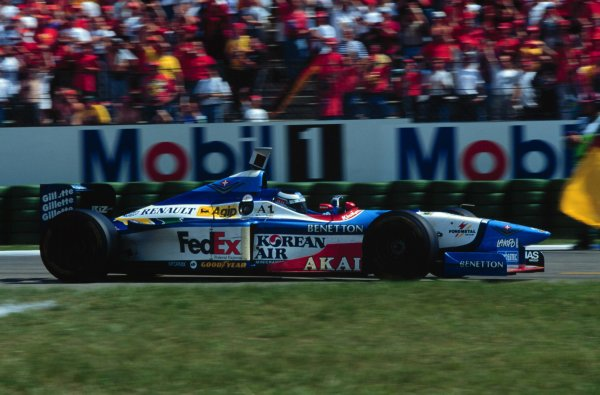 1997 German Grand Prix.Hockenheim, Germany.25-27 July 1997Gerhard Berger (Benetton B197 Renault) 1st position.World Copyright - LAT Photographic