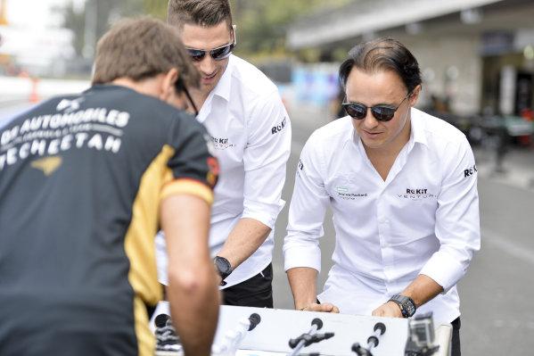 Felipe Massa (BRA), Venturi and Edoardo Mortara (CHE) Venturi play table football against the DS Techeetah drivers