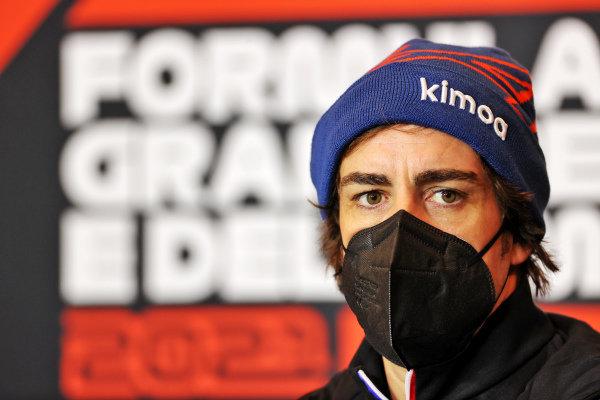 Fernando Alonso, Alpine F1 in the Press Conference