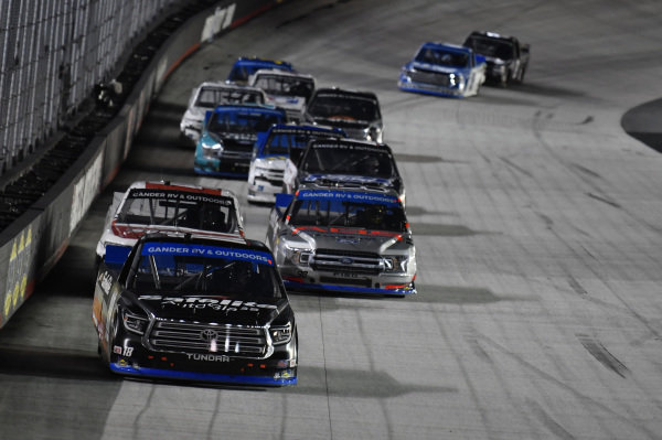 #18: Christian Eckes, Kyle Busch Motorsports, Toyota Tundra Safelite AutoGlass, #98: Grant Enfinger, ThorSport Racing, Ford F-150 ADS/Lucas Oil