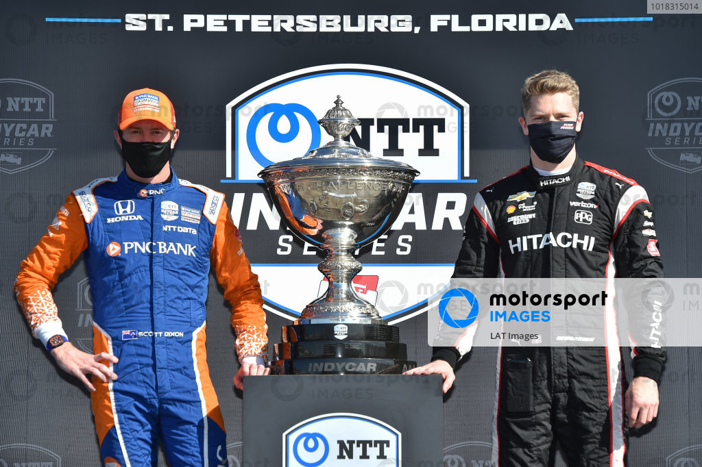 Championship Contenders #9 Scott Dixon, Chip Ganassi Racing Honda, #1 Josef Newgarden, Team Penske Chevrolet