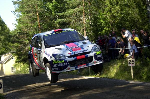 2001 World Rally Championship.Neste Rally Finland. Jyvaskyla, August 24-26, 2001.Colin McRae on stage 16.Photo: Ralph Hardwick/LAT