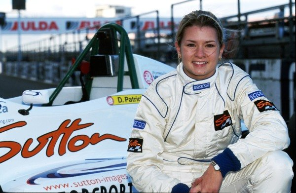 Danica Patrick (USA) tests before competing this winter in the UK. Formula Vauxhall Junior Winter Series, Silverstone, England, 10 November 1998.