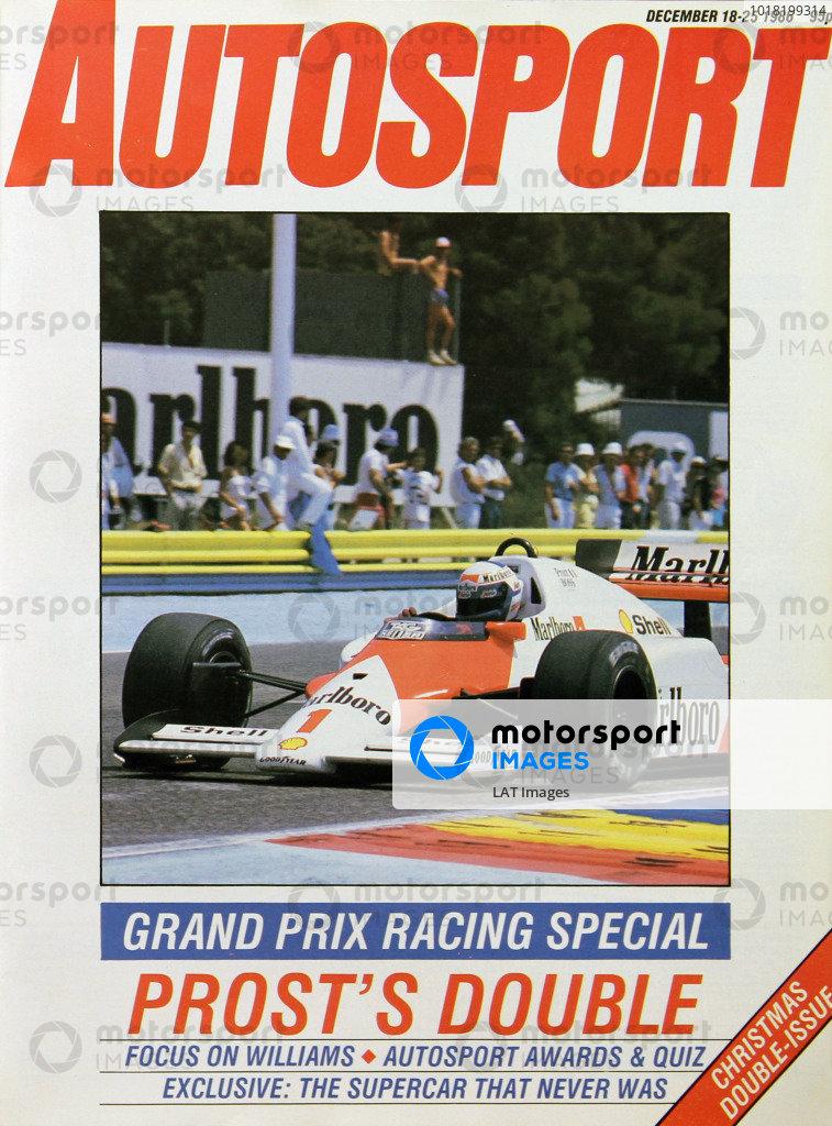 Cover of Autosport magazine, 18th December 1986