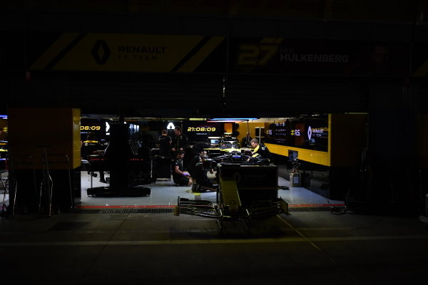 The Renault garage