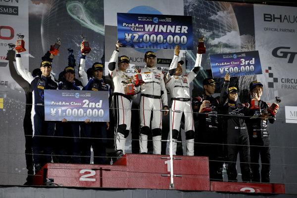 Podium ProAm: Winner #43 Team Strakka Racing Mercedes-AMG GT3: Christina Nielsen, Dominik Baumann, Adrian Henry D'Silva, second place #188 Garage59 Aston Martin V8 Vantage GT3: Alex West, Chris Goodwin, Come Ledogar, third place #60 LM Corsa Porsche 911 GT3 R: Juichi Wakisaka, Shigekazu Wakisaka, Kei Nakanishi .