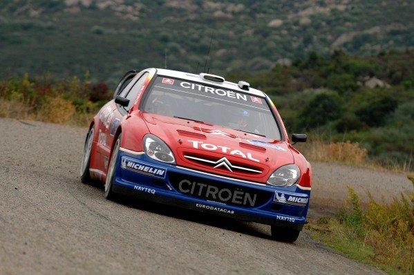 Sebastien Loeb (FRA) Citroen Xsara WRC. FIA World Rally Championship, Rd14, Rally de France, Ajaccio, Corsica, France. Shakedown.  Thursday 20 October 2005. DIGITAL IMAGE