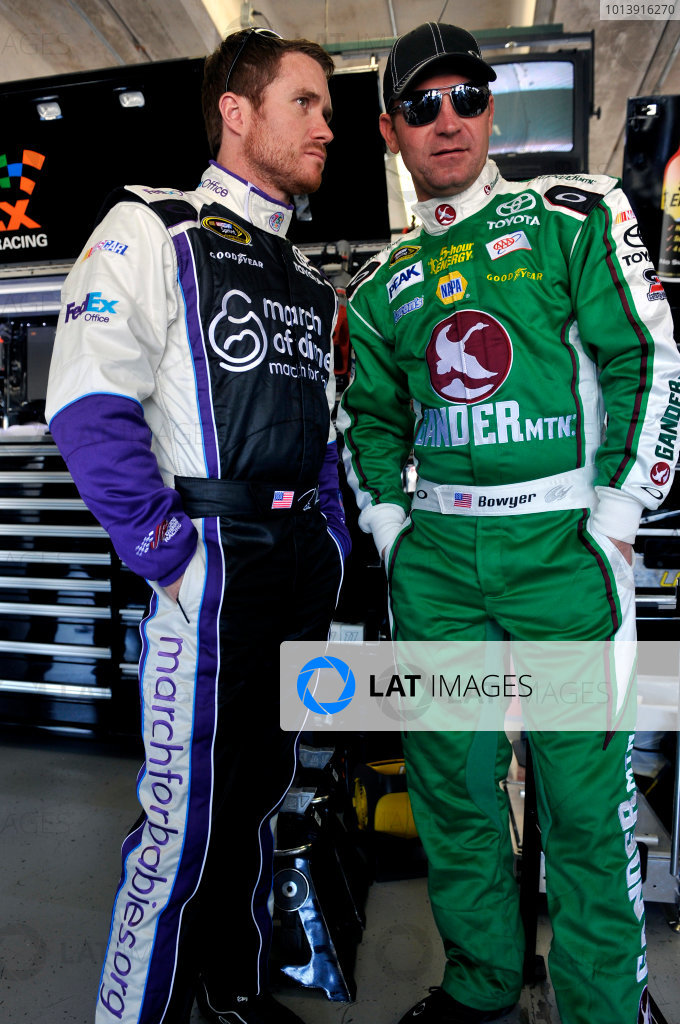 11-13 April, 2013, Fort Worth, Texas USA Brian Vickers, FedEx Office/March of Dimes Toyota Camry and Clint Bowyer ©2013, Nigel Kinrade LAT Photo USA