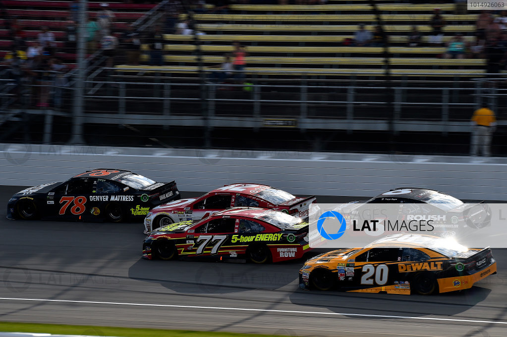 Monster Energy NASCAR Cup Series Pure Michigan 400 Michigan International Speedway, Brooklyn, MI USA Sunday 13 August 2017 Martin Truex Jr, Furniture Row Racing, Furniture Row/Denver Mattress Toyota Camry leads World Copyright: Rusty Jarrett LAT Images