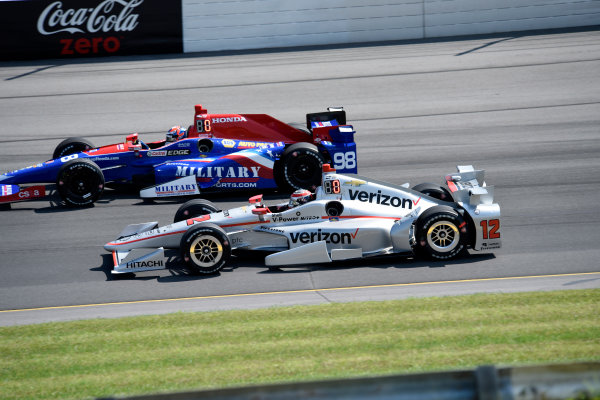 Verizon IndyCar Series ABC Supply 500 Pocono Raceway, Long Pond, PA USA Monday 21 August 2017 Will Power, Team Penske Chevrolet and Alexander Rossi, Curb Andretti Herta Autosport with Curb-Agajanian Honda World Copyright: Gregg Feistman LAT Images