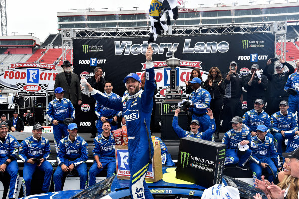 Monster Energy NASCAR Cup Series Food City 500 Bristol Motor Speedway, Bristol, TN USA Jimmie Johnson wins the Food City 500 World Copyright: Rusty Jarrett LAT Images ref: Digital Image 17BMS1rj_8448