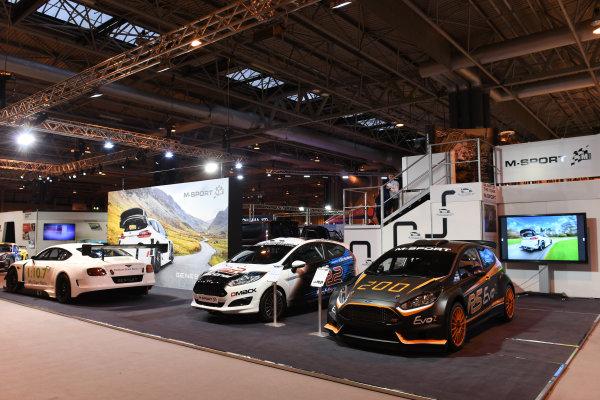Autosport International Exhibition. National Exhibition Centre, Birmingham, UK. Friday 13 January 2017. The M-Sport stand. World Copyright: Sam Bagnall/LAT Photographic. Ref: DSC_2777