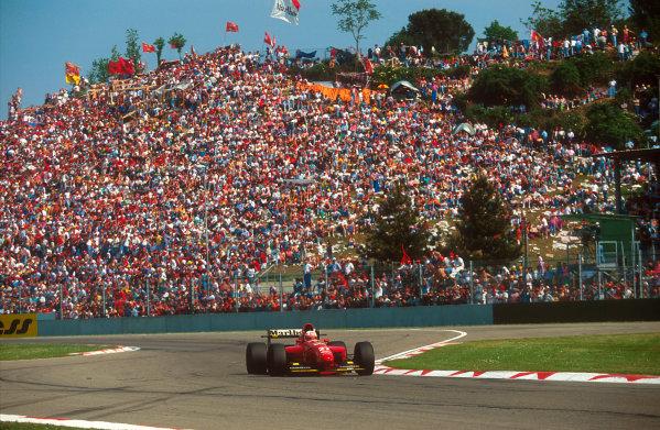 Imola, Italy.29/4-1/5 1994.Nicola Larini (Ferrari 412T1) 2nd position.Ref-94 SM 50.World Copyright - LAT Photographic