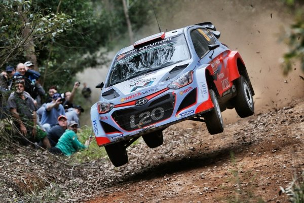 Dani Sordo (ESP) / Marc Marti (ESP) Hyundai i20 WRC at FIA World Rally Championship, R10, Coates Hire Rally Australia, Preparations & Shakedown, Coffs Harbour, New South Wales, Australia, 10 September 2015.