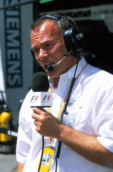 Peter Windsor (GBR) Commentator for the F1 Digital TV Service.