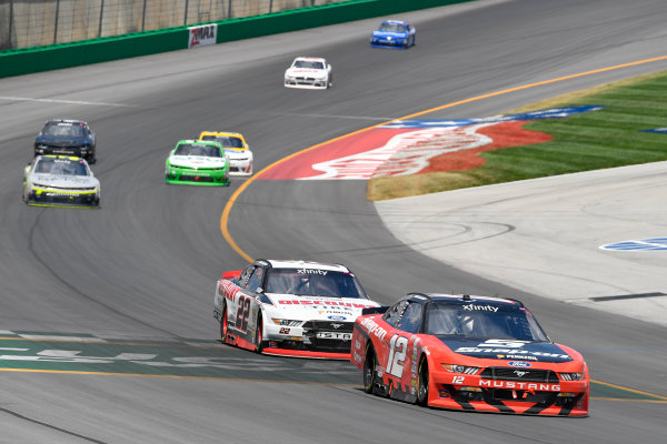 NASCAR XFINITY Series Alsco 300 Kentucky Speedway, Sparta, KY USA Saturday 8 July 2017 Ryan Blaney, Snap-On Ford Mustang, Joey Logano, Discount Tire Ford Mustang World Copyright: Logan Whitton LAT Images