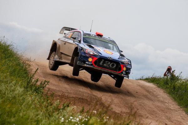 2017 FIA World Rally Championship, Round 08, Rally Poland / June 29 - July 2 2017, Dani Sordo, Hyundai, action, Worldwide Copyright: McKlein/LAT