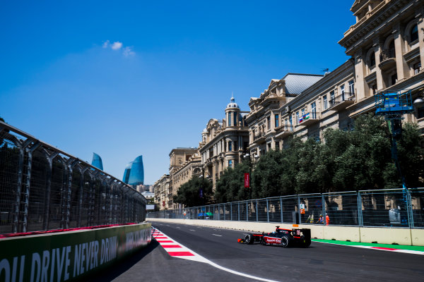 2017 FIA Formula 2 Round 4. Baku City Circuit, Baku, Azerbaijan. Friday 23 June 2017. Nyck De Vries (NED, Rapax)  Photo: Zak Mauger/FIA Formula 2. ref: Digital Image _54I9502