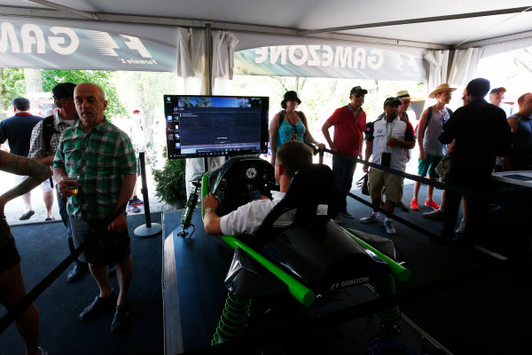 Circuit Gilles Villeneuve, Montreal, Canada. Sunday 11 June 2017. F1 challenge in the Gamezone. World Copyright: Andy Hone/LAT Images ref: Digital Image _ONZ4816